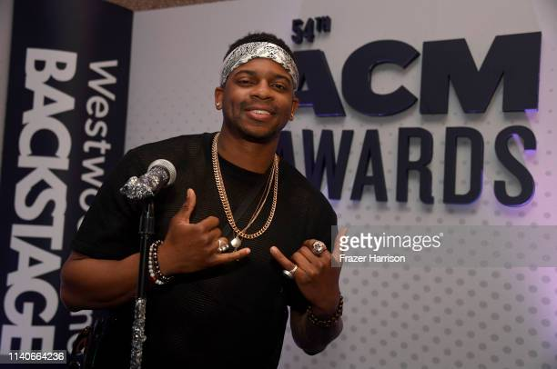 Jimmie Allen attends the 54th Academy Of Country Music Awards Cumulus/Westwood One Radio Remotes on April 05 2019 in Las Vegas Nevada
