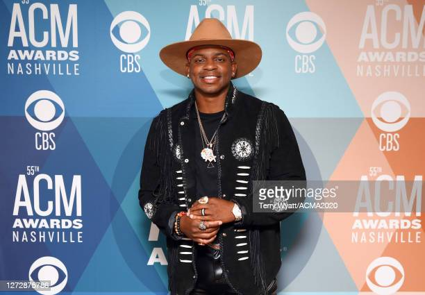Jimmie Allen attends the 55th Academy of Country Music Awards at Bluebird Café on September 15, 2020 in Nashville, Tennessee. The ACM Awards airs on...
