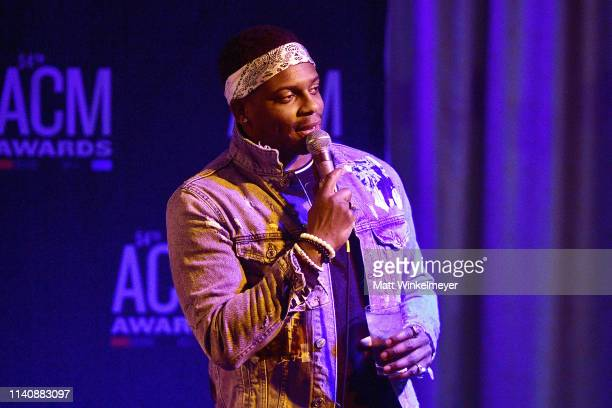 Jimmie Allen performs during the 54th Academy Of Country Music Radio Awards Reception Change the Conversation on April 06 2019 in Las Vegas Nevada