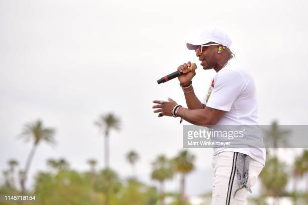 Jimmie Allen performs onstage during the 2019 Stagecoach Festival at Empire Polo Field on April 28 2019 in Indio California