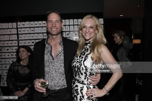 Jimmie Berggren of The Humble Co and Consuelo Vanderbilt Costin attend the LA Launch Event Of SohoMuse at Christopher Guy West Hollywood Showroom on...