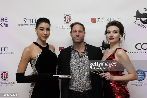 Jimmie Berggren of The Humble Co and models at the LA Launch Event Of SohoMuse at Christopher Guy West Hollywood Showroom on February 07 2020 in West...