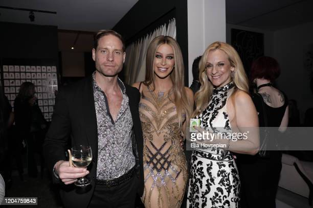 Jimmie Berggren of The Humble Co Gigi Gorgeous and Consuelo Vanderbilt Costin attend the LA Launch Event Of SohoMuse at Christopher Guy West...