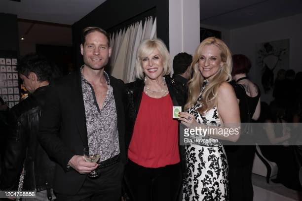 Jimmie Berggren of The Humble Co guest and Consuelo Vanderbilt Costin attend the LA Launch Event Of SohoMuse at Christopher Guy West Hollywood...