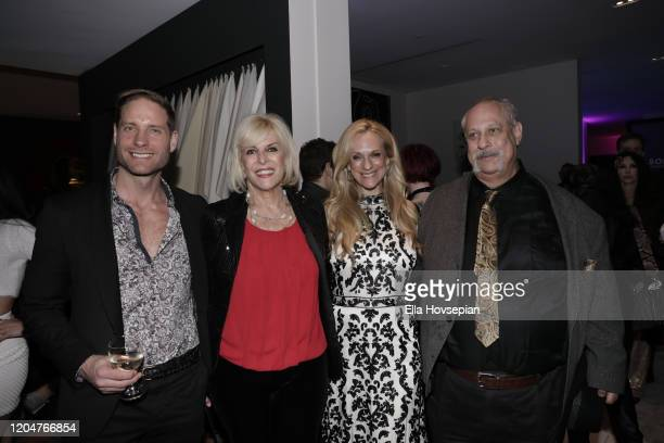 Jimmie Berggren of The Humble Co guest Consuelo Vanderbilt Costin and Michael Horowitz of Muse Tek at Christopher Guy West Hollywood Showroom on...