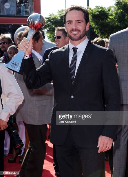 Jimmie Johnson arrives at the 19th Annual ESPY Awards at Nokia Theatre LA Live on July 13 2011 in Los Angeles California