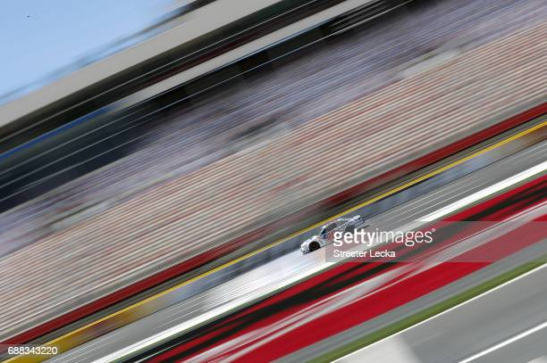 Jimmie Johnson driver of the Lowe's Chevrolet drives during practice for the Monster Energy NASCAR Cup Series CocaCola 600 at Charlotte Motor...