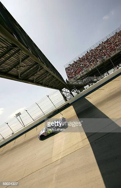 Jimmie Johnson driver of the Lowe's Chevrolet during the NASCAR Nextel Cup MBNA RacePoints 400 on June 5 2005 at the Dover Internation Speedway in...