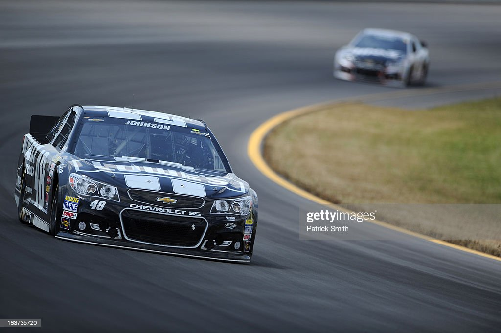 Jimmie Johnson, driver of the #48 Lowe's/Kobalt Tools Chevrolet, during the NASCAR Sprint Cup Series Party in the Poconos 400 at Pocono Raceway on June 9, 2013 in Long Pond, Pennsylvania.
