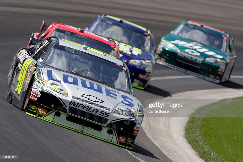 Jimmie Johnson, driver of the Lowe's/KOBALT Tools Chevrolet