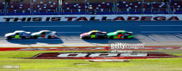Jimmie Johnson driver of the MyLowe's Chevrolet Dale Earnhardt Jr driver of the Diet Mountain Dew Chevrolet Jeff Gordon driver of the Drive to End...