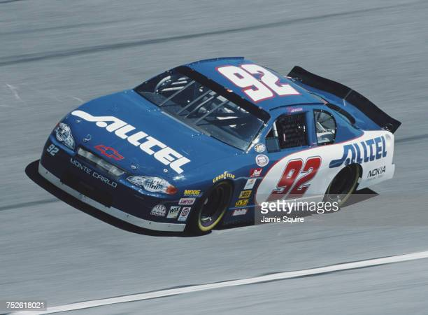 Jimmie Johnson drives the Herzog Motorsports Chevrolet Monte Carlo during practice for the 2000 NASCAR Busch Grand National Series NAPA Auto Parts...