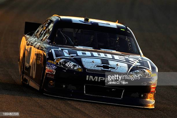 Jimmie Johnson drives the Lowe's Chevrolet during the NASCAR Sprint Cup Series AAA Texas 500 at Texas Motor Speedway on November 4 2012 in Fort Worth...