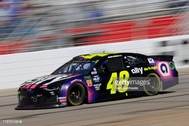 Jimmie Johnson Hendrick Motorsports Chevrolet Camaro Ally during the 60th annual running of the Folds of Honor Quik Trip 500 Monster Energy NASCAR...