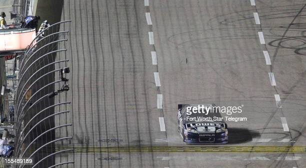 Jimmie Johnson wins the NASCAR Sprint Cup AAA Texas 500 at Texas Motor Speedway in Fort Worth Texas on Sunday November 4 2012