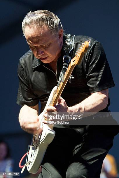 Jimmie Vaughan performs at Fair Grounds Race Course on April 24 2015 in New Orleans Louisiana