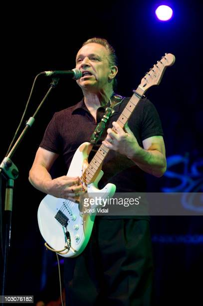 Jimmie Vaughan performs on stage during the third and final day of Cazorla Blues Festival at Plaza De Toros on July 24 2010 in Cazorla Spain