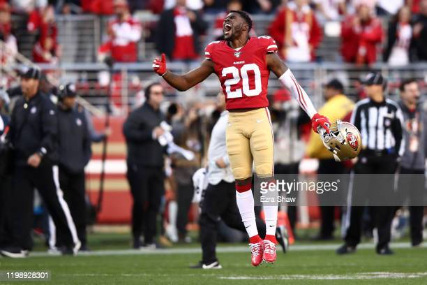 Jimmie Ward of the San Francisco 49ers reacts to Nick Bosa getting up after an injury during the second half against the Minnesota Vikings during the...