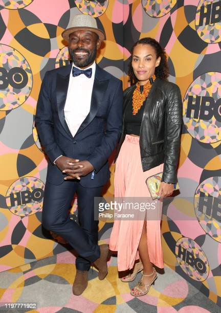 Jimmu JeanLouis and Evelyn JeanLouis attend HBO's Official Golden Globes After Party at Circa 55 Restaurant on January 05 2020 in Los Angeles...