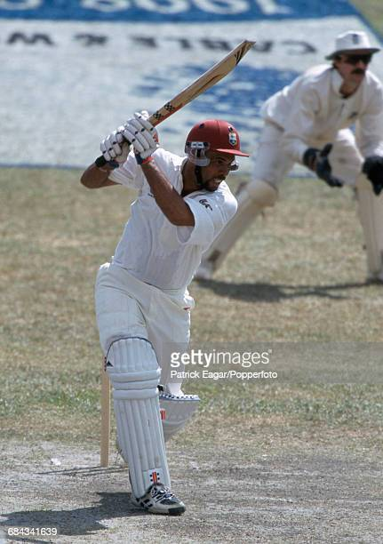 Jimmy Adams batting for West Indies during the 3rd Test match between West Indies and England at Queen's Park Oval, Port of Spain, Trinidad, 15th...