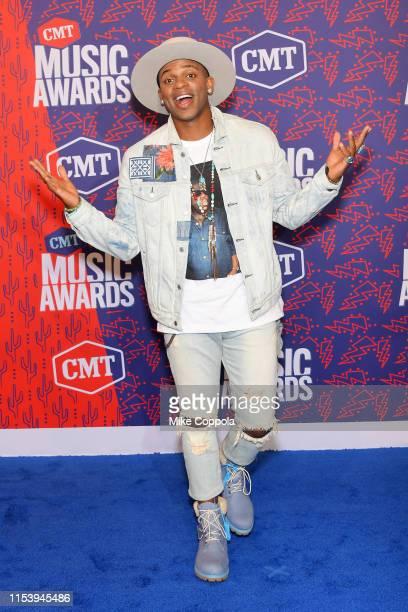 Jimmy Allen attends the 2019 CMT Music Award at Bridgestone Arena on June 05 2019 in Nashville Tennessee