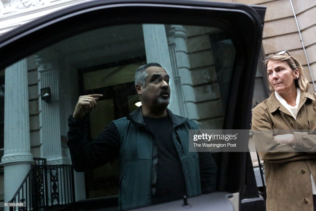 Jimmy Arroyo, a DEA group supervisor, and Erin Mulvey, a DEA special agent, seen on October 26, 2017, chat outside of an apartment building on 448 Central Park West in Manhattan, NY, from where 9 kg of fentanyl and heroin were recovered.