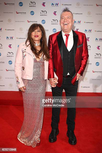 Jimmy Barnes and Jane Mahoney arrives for the 30th Annual ARIA Awards 2016 at The Star on November 23 2016 in Sydney Australia