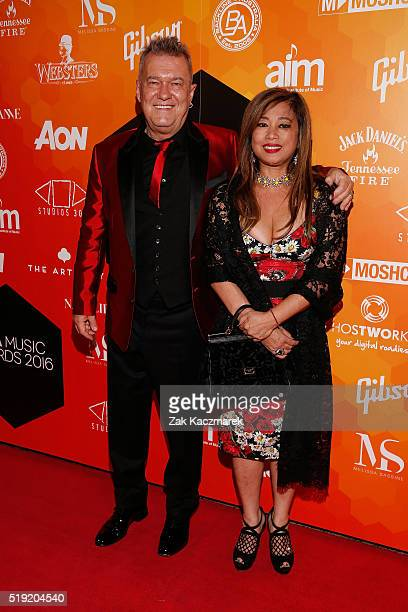 Jimmy Barnes and Jane Mahoney attend the 2016 APRA Music Awards at Carriageworks on April 5 2016 in Sydney Australia