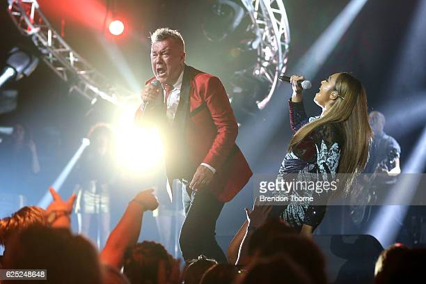 Jimmy Barnes and Jessica Mauboy perform on stage during the 30th Annual ARIA Awards 2016 at The Star on November 23 2016 in Sydney Australia