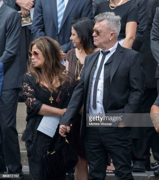 Jimmy Barnes and wife Jane Mahoney at the funeral service for AC/DC cofounder Malcolm Young at St Mary's Cathedral on November 28 2017 in Sydney...