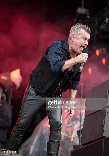 Jimmy Barnes of Australian hard rock band Cold Chisel performing live onstage at Hard Rock Calling Festival July 13 2012