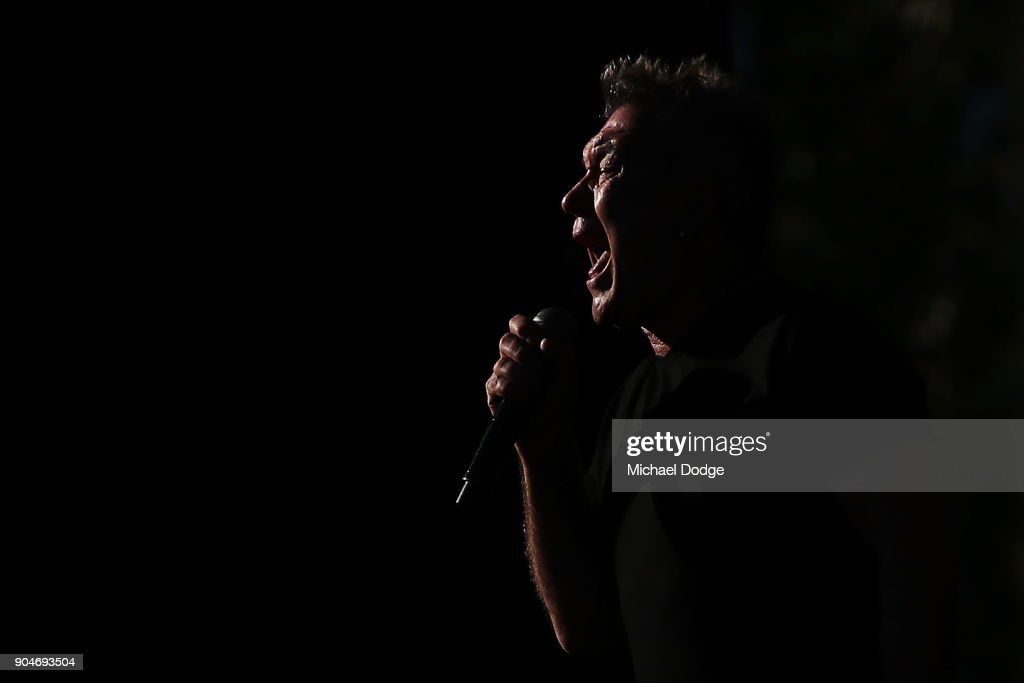 Jimmy Barnes performs at the MND concert to help raise funds for the fight against Motor Neuron Disease ahead of the 2018 Australian Open at Melbourne Park on January 14, 2018 in Melbourne, Australia.