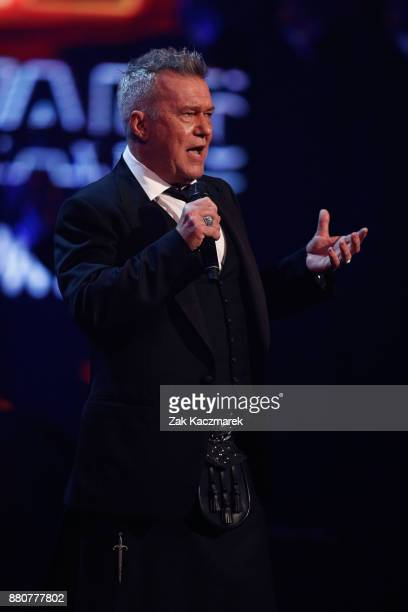 Jimmy Barnes presents the ARIA Hall of Fame award to Daryl Braithwaite during the 31st Annual ARIA Awards 2017 at The Star on November 28 2017 in...