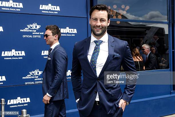 Jimmy Bartel arrives at Melbourne Cup Day at Flemington Racecourse on November 1, 2016 in Melbourne, Australia.