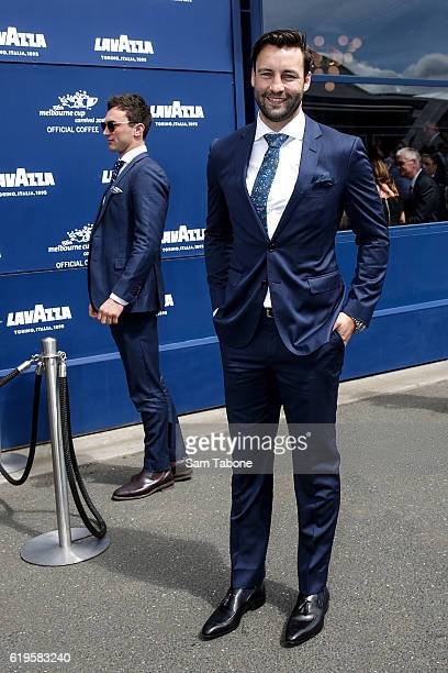 Jimmy Bartel arrives at Melbourne Cup Day at Flemington Racecourse on November 1 2016 in Melbourne Australia