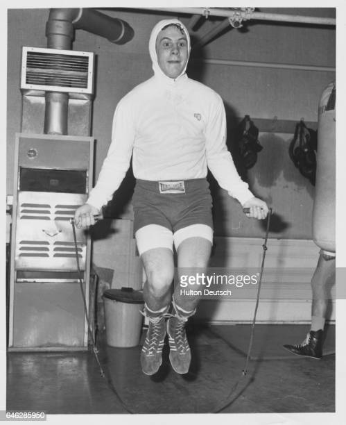 Jimmy Batten Britain's light middleweight boxing champion in training for a forthcoming fight at the Albert Hall against the Mexican Zovek Barajas...