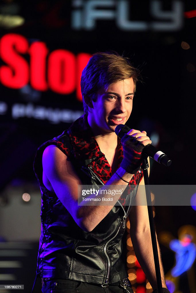 Jimmy Bennett performs at the 2012 Hollywood Christmas Parade Concert held at Universal CityWalk on November 20, 2012 in Universal City, California.