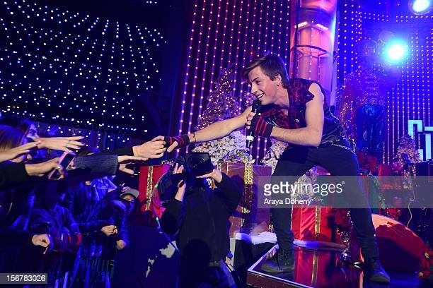 Jimmy Bennett performs at the 2012 Hollywood Christmas Parade Concert at Universal CityWalk on November 20 2012 in Universal City California