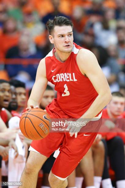 Jimmy Boeheim of the Cornell Big Red drives to the basket against the Syracuse Orange during the second half at the Carrier Dome on December 1 2018...