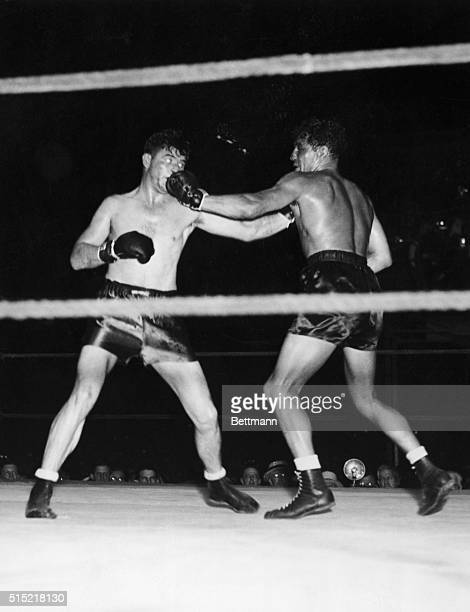 Jimmy Braddock winning a championship match with Max Baer in 1935