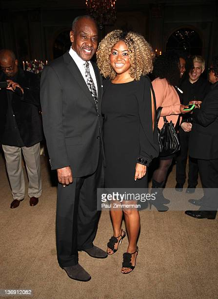 Jimmy Branch and Miko Branch coowner of Miss Jessie hair products attend the Target salute to Miko Branch and Titi Branch to celebrate being named...