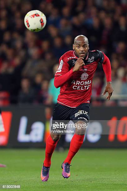 Jimmy Briand of Guingamp during the Ligue 1 match between EA Guingamp and Lille OCS at Stade du Roudourou on October 15, 2016 in Guingamp, France.