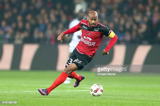 Jimmy Briand of Guingamp during the Ligue 1 match between Guingamp and Angers at Stade du Roudourou on October 29 2016 in Guingamp France