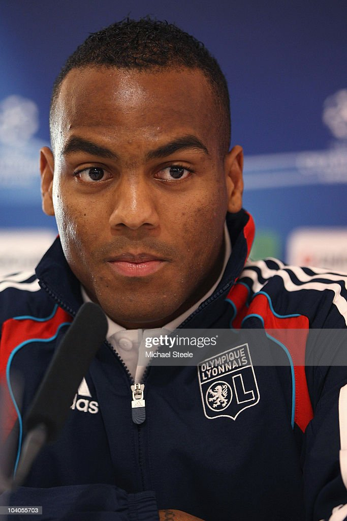 Jimmy Briand of Olympique Lyon during the Lyon Press Conference, ahead of their Group B UEFA Champions League first phase match against Schalke 04, at Stade de Gerland on September 13, 2010 in Lyon, France.