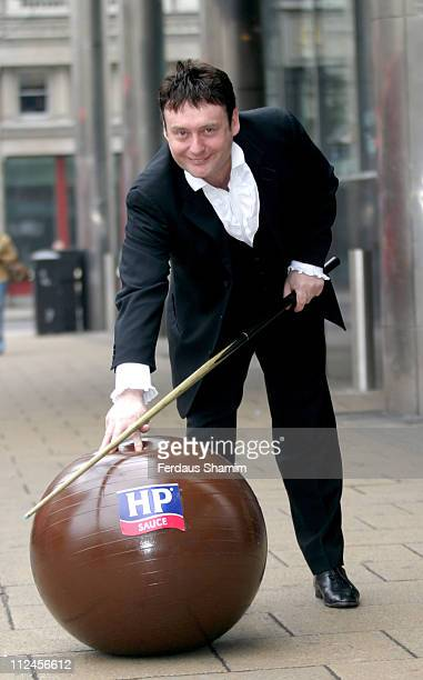 Jimmy Brown formerly known as Jimmy White during Snooker Gets Saucy with HP Brown Sauce Photocall at Sports Cafe in London Great Britain