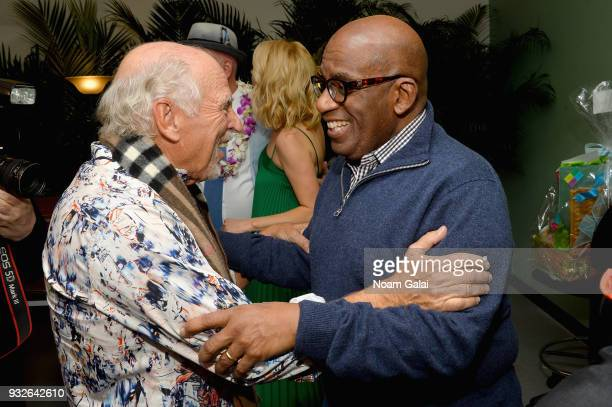 Jimmy Buffett and Al Roker attend the Broadway premiere of 'Escape to Margaritaville' the new musical featuring songs by Jimmy Buffett at the Marquis...