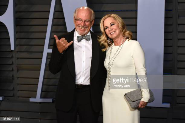 Jimmy Buffett and Jane Slagsvol attend 2018 Vanity Fair Oscar Party Hosted By Radhika Jones Arrivals at Wallis Annenberg Center for the Performing...