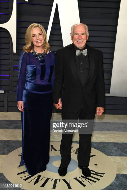 Jimmy Buffett and Jane Slagsvol attends 2019 Vanity Fair Oscar Party Hosted By Radhika Jones at Wallis Annenberg Center for the Performing Arts on...