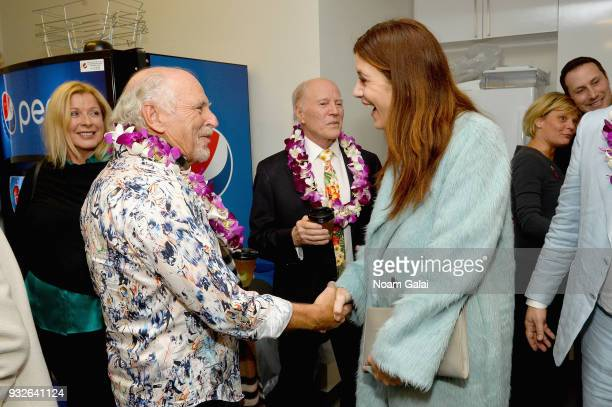 Jimmy Buffett and Kate Walsh attend the Broadway premiere of 'Escape to Margaritaville' the new musical featuring songs by Jimmy Buffett at the...