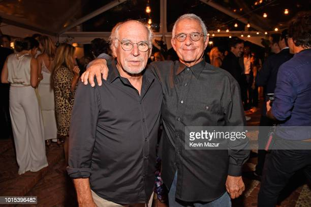 Jimmy Buffett and Ron Meyer attend Apollo in the Hamptons 2018 Hosted by Ronald O Perelman at The Creeks on August 11 2018 in East Hampton New York